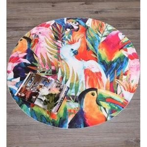 Other - FREE!! Tropical Round Beach Picnic Blanket